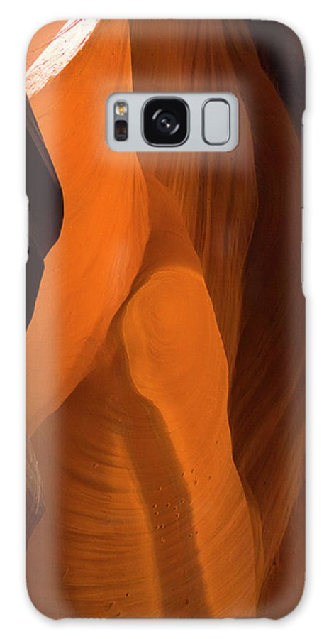 Antelope Canyon Galaxy Case featuring the photograph Sitting Woman by Davorlovincic