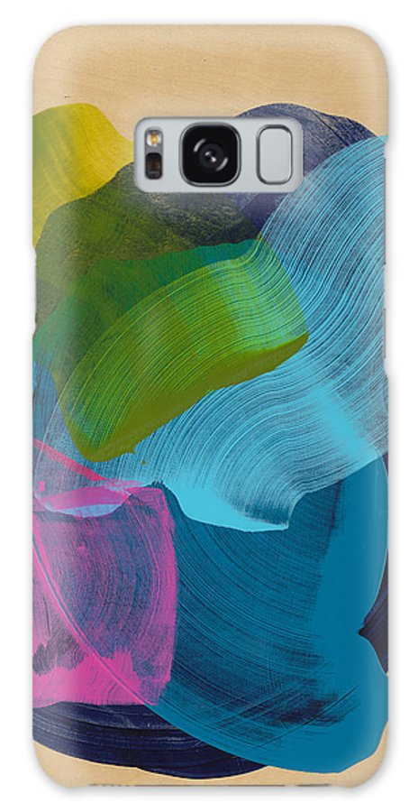 Abstract Galaxy S8 Case featuring the painting Socal 02 by Claire Desjardins