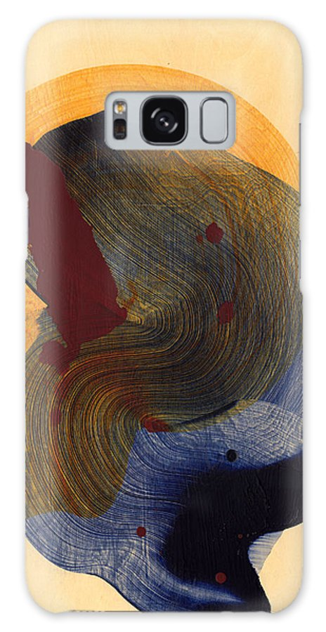 Abstract Galaxy S8 Case featuring the painting Socal 03 by Claire Desjardins