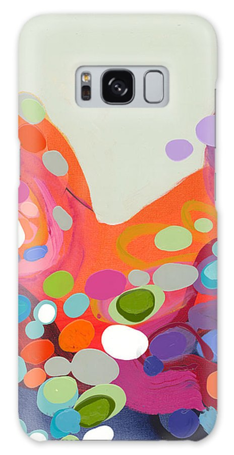 Abstract Galaxy Case featuring the painting Spoonful Of Joy by Claire Desjardins