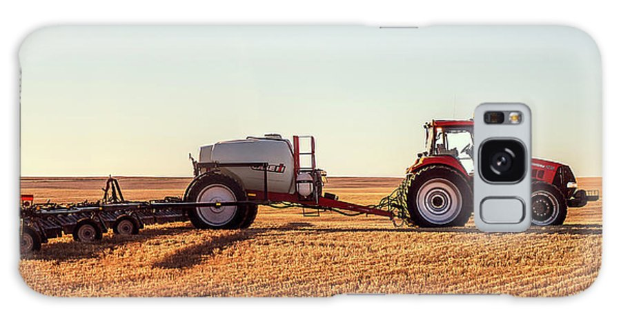 Case Ih Galaxy Case featuring the photograph Sprayer Rig Panorama by Todd Klassy