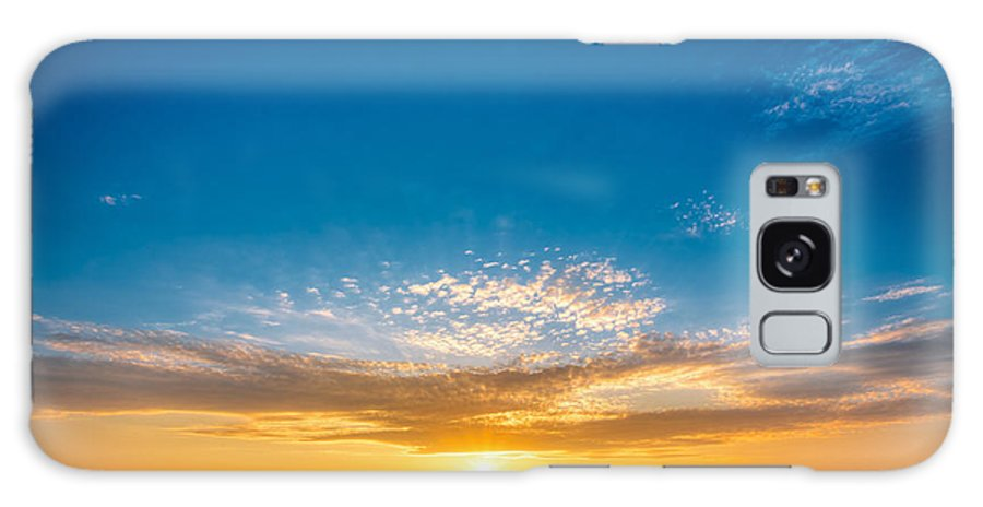 Sunshine Galaxy S8 Case featuring the photograph Spring Field Meadow Road Under Sunset by Grisha Bruev