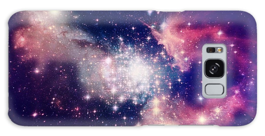 Harmony Galaxy S8 Case featuring the digital art Stars Of A Planet And Galaxy In A Free by Anatolii Vasilev