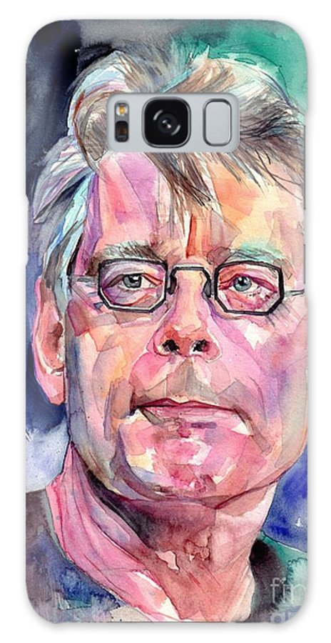 Stephen King Galaxy Case featuring the painting Stephen King Portrait by Suzann Sines
