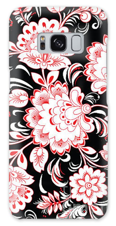 Curve Galaxy S8 Case featuring the digital art Stock Vector Floral Ornament by Kavione