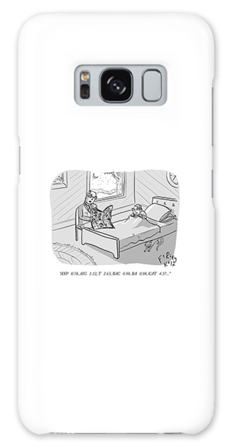 """""""axp  0.78 Galaxy S8 Case featuring the drawing Stocktime Stories by Farley Katz"""