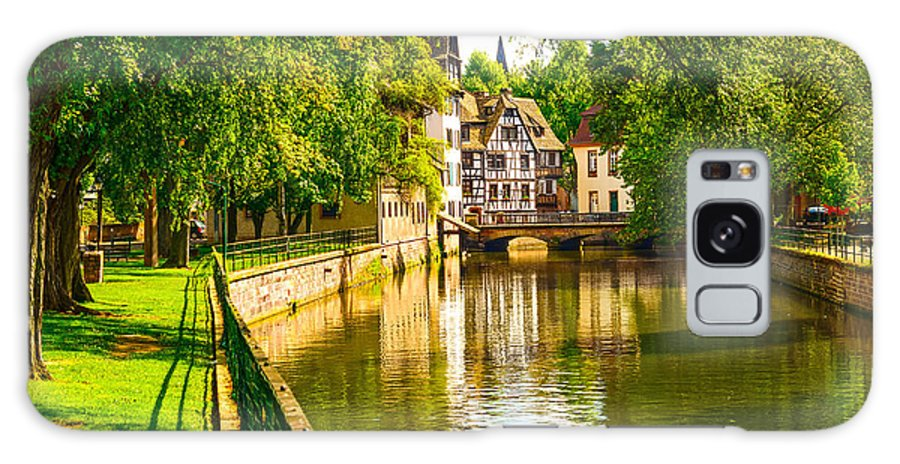 Half Galaxy S8 Case featuring the photograph Strasbourg, Water Canal In Petite by Stevanzz