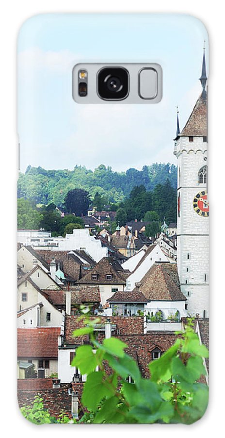 Outdoors Galaxy Case featuring the photograph Summer View Of Schaffhausen by Oks mit