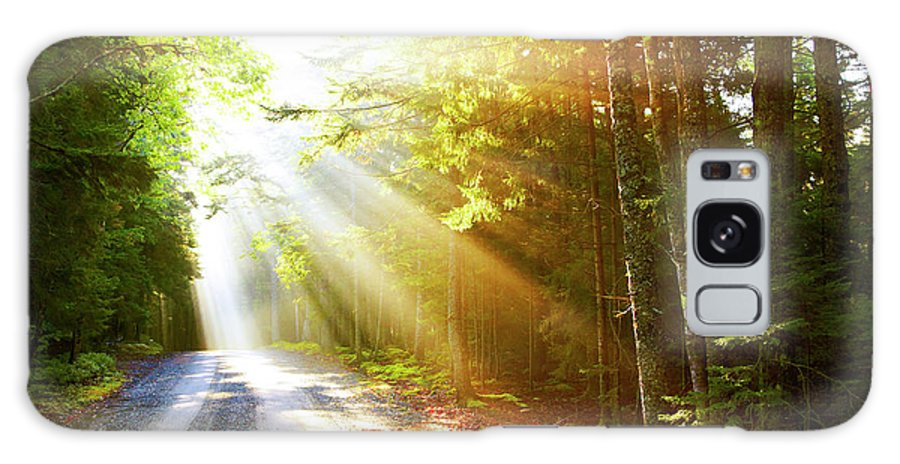 Outdoors Galaxy Case featuring the photograph Sunflare On Road by Thomas Northcut