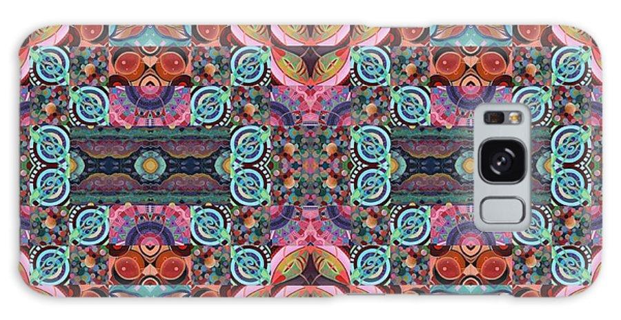 Tjod Mandala Series Puzzle 7 Arrangement 5 Mulitplied By Helena Tiainen Galaxy S8 Case featuring the mixed media T J O D Mandala Series Puzzle 7 Arrangement 5 Multiplied by Helena Tiainen