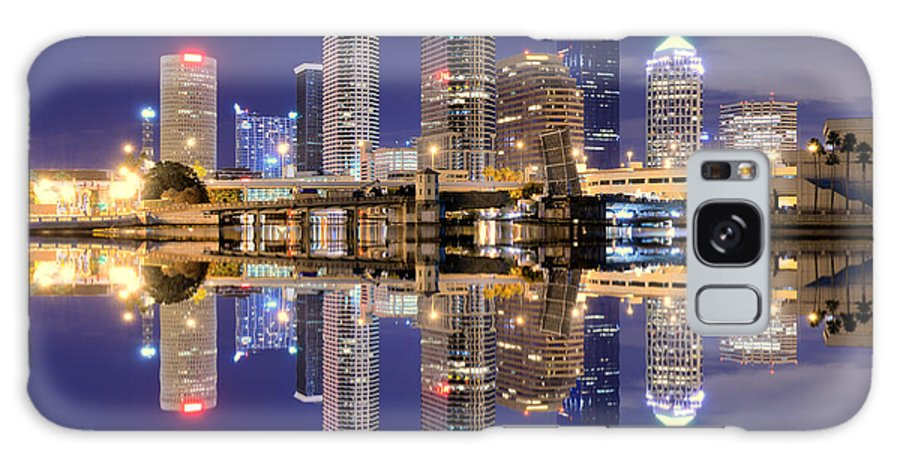 Downtown District Galaxy Case featuring the photograph Tampa Bay Skyline by Sean Pavone