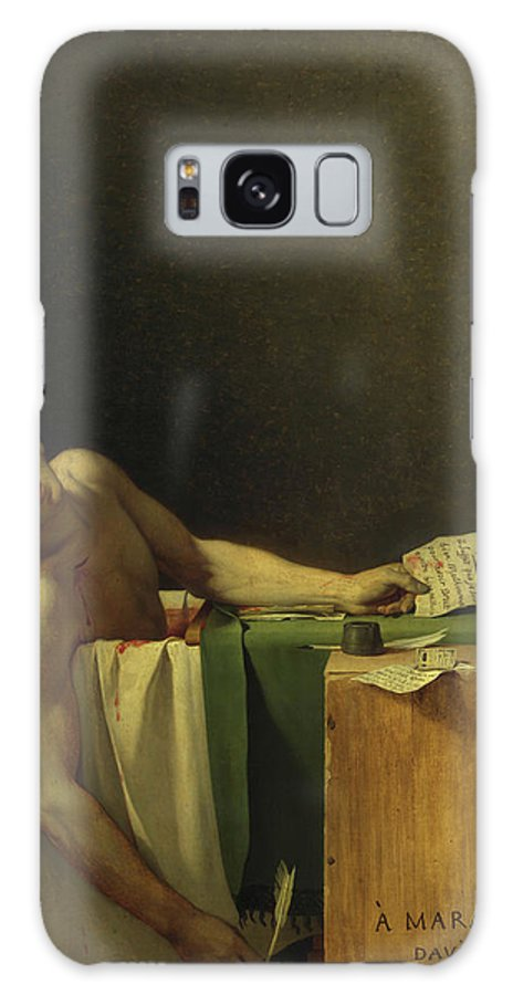 Jacques-louis David Galaxy Case featuring the painting The Death Of Marat, 1793 by Jacques-Louis David