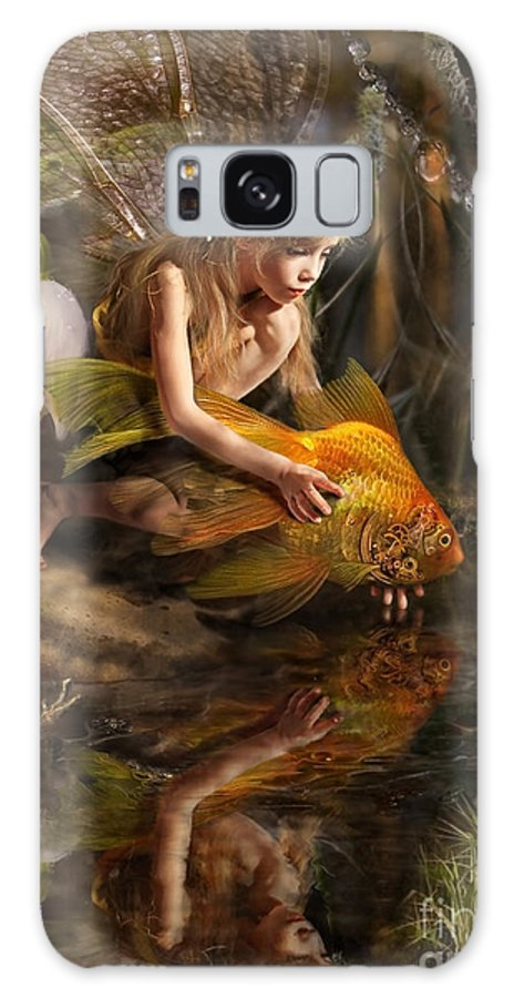 Magic Galaxy S8 Case featuring the photograph The Girl Releases A Gold Fish by Liliya Kulianionak