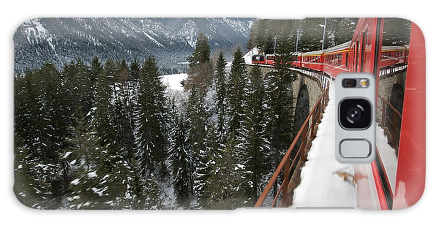 St Galaxy Case featuring the photograph The Glacier Express by Rudy Mareel