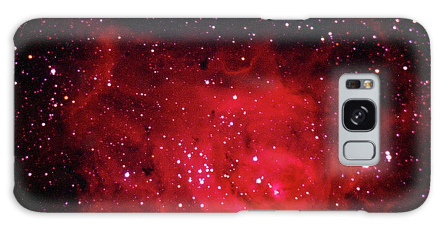 Majestic Galaxy Case featuring the photograph The Lagoon Nebula In Sagittarius by A. V. Ley