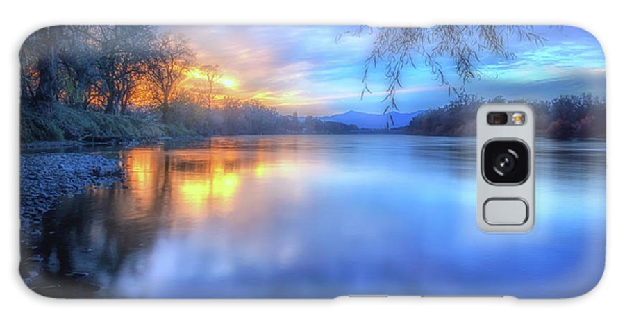 Anderson Galaxy S8 Case featuring the photograph The Last Light Sunset On The Sacramento River by Marnie Patchett
