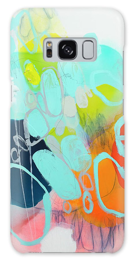 Abstract Galaxy S8 Case featuring the painting The Right Thing by Claire Desjardins