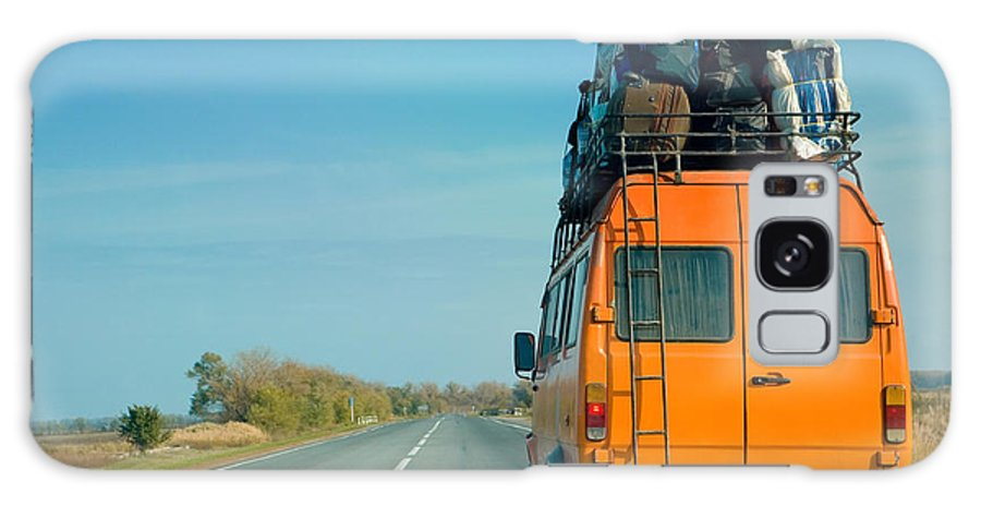 Door Galaxy S8 Case featuring the photograph The Small Bus With Bags On A Roof by Krivosheev Vitaly