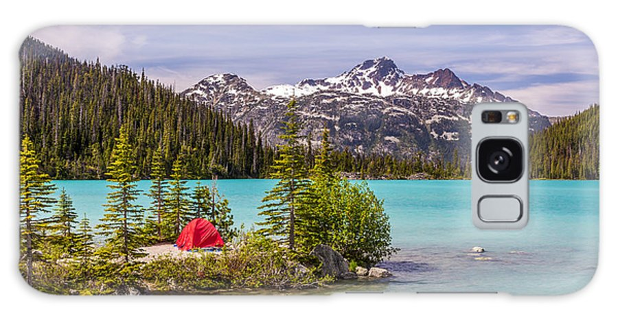 Bc Galaxy Case featuring the photograph This Red Tent Is A Nice Contrast With by Pierre Leclerc