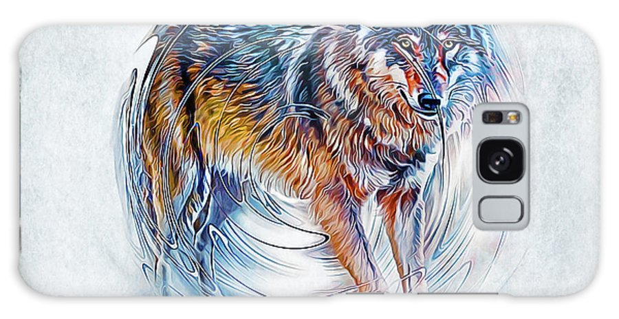 Wolf Galaxy S8 Case featuring the digital art Timber Wolf by Ian Mitchell