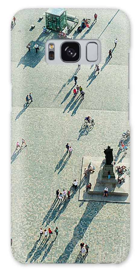 German Galaxy S8 Case featuring the photograph Top View Of Neumarkt Square In by Joyfull