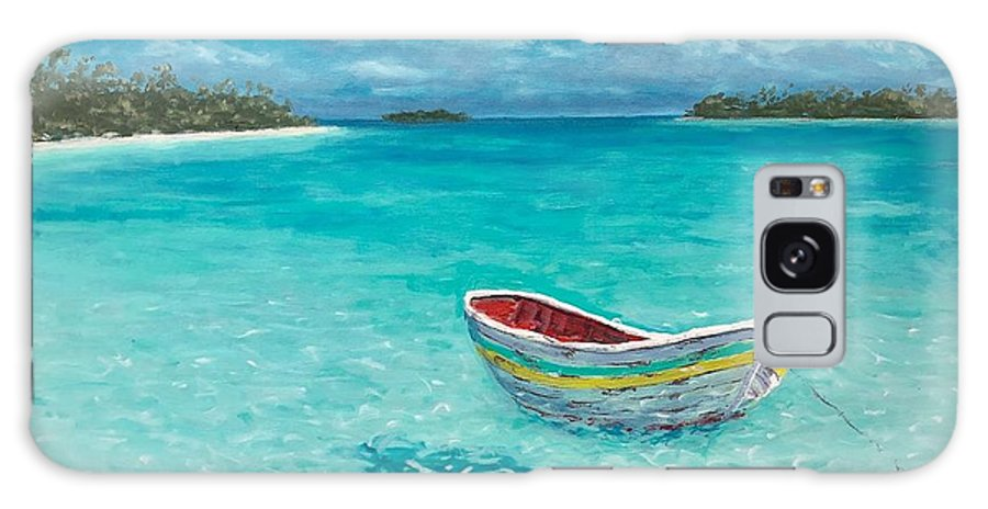 Dinghy Galaxy Case featuring the painting Tranquil by Paul Emig