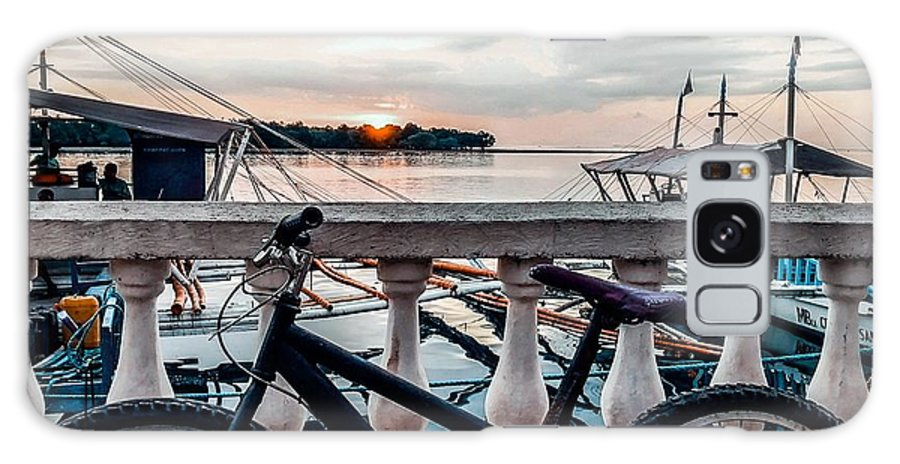 Bike Galaxy Case featuring the photograph Traveller's point by Dynz Abejero