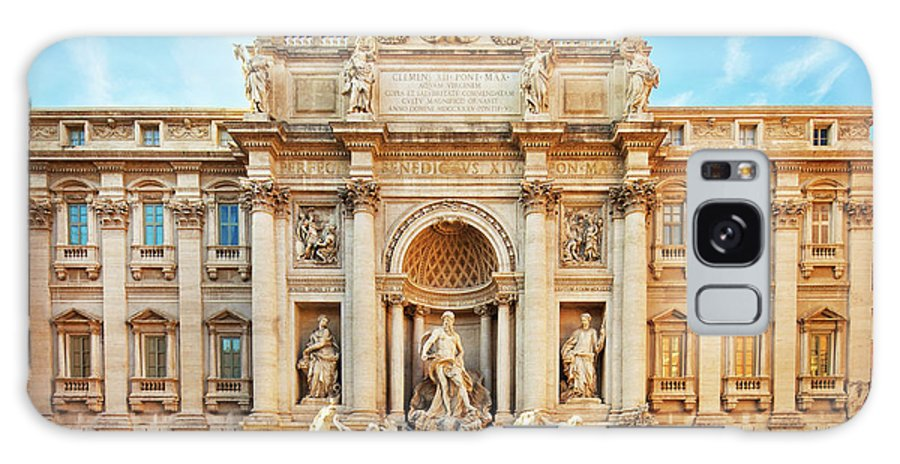 Empty Galaxy Case featuring the photograph Trevi Fountain, Rome by Nikada