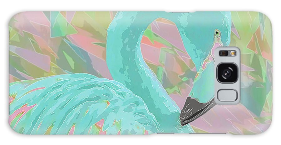 Flamingo Galaxy Case featuring the photograph Tropical Breeze Flamingo by Banyan Ranch Studios