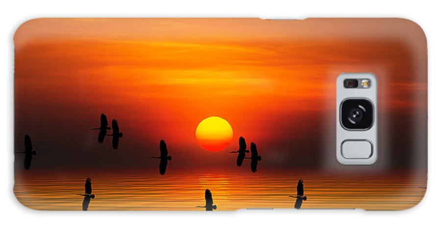 Sunrise Galaxy S8 Case featuring the digital art Tropical Colorful Sunset, Songkhla by Siriwat Srinuroht