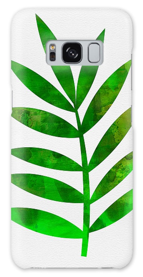 Tropical Leaf Galaxy S8 Case featuring the mixed media Tropical Leaf 3 by Naxart Studio
