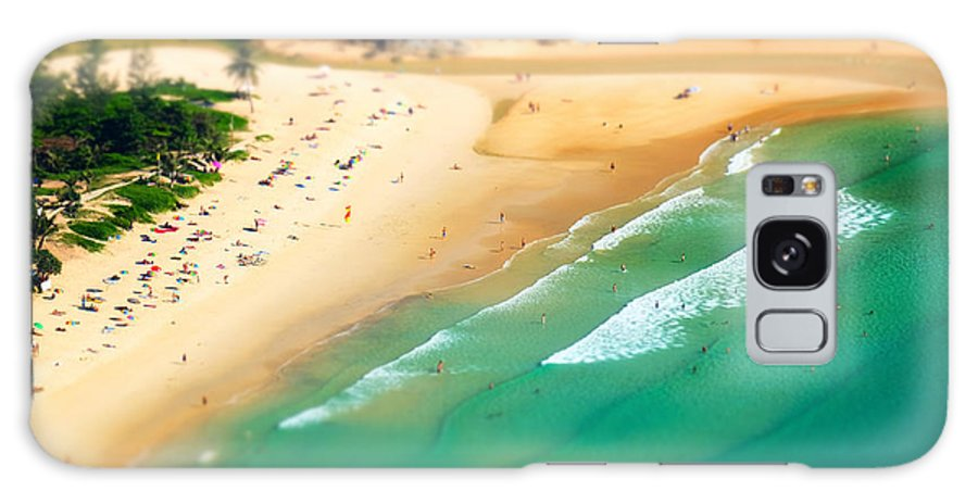 Nui Galaxy S8 Case featuring the photograph Tropical Sandy Beach Landscape From by Perfect Lazybones