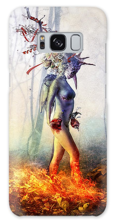 Surreal Galaxy Case featuring the digital art Trust In Me by Mario Sanchez Nevado