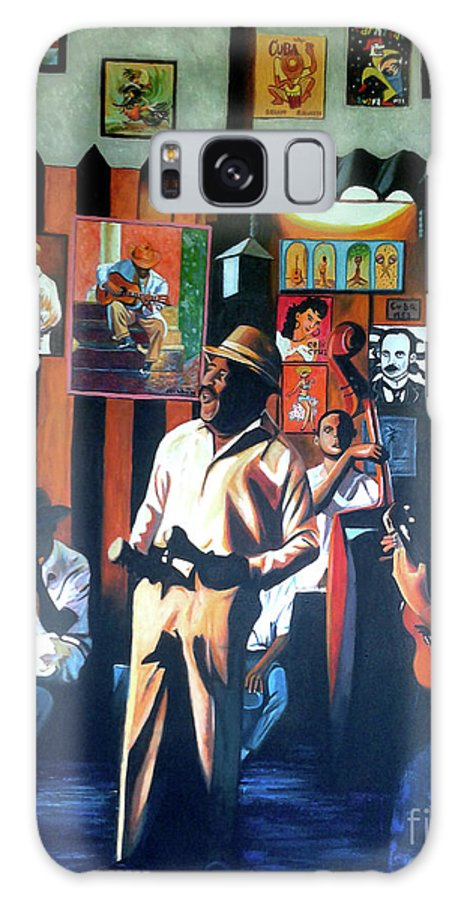 Bar Galaxy Case featuring the painting Uncle Bar by Jose Manuel Abraham