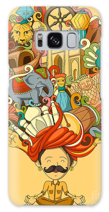 Scalable Galaxy S8 Case featuring the digital art Vector Illustration Of Dream And by Stockshoppe