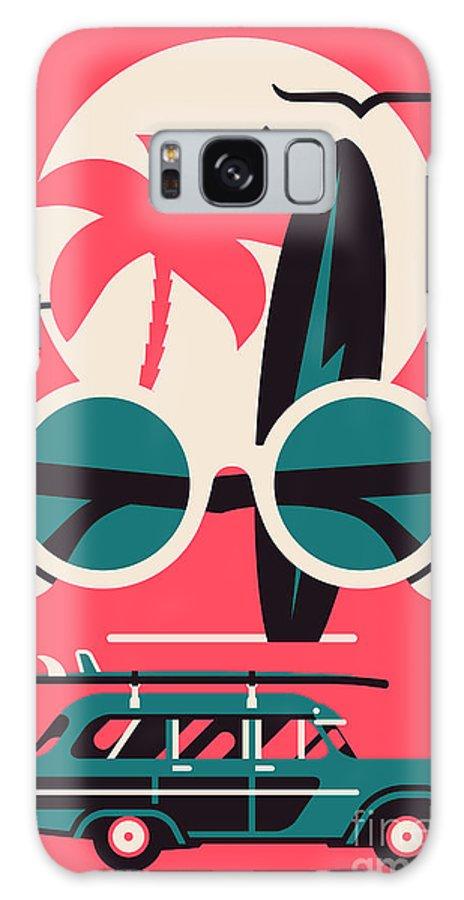 Symbol Galaxy Case featuring the digital art Vector Modern Flat Wall Art Poster by Mascha Tace