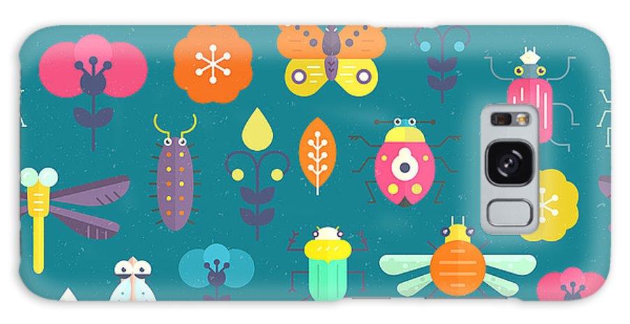 Locust Galaxy S8 Case featuring the digital art Vector Seamless Geometric Pattern With by Olga Zakharova