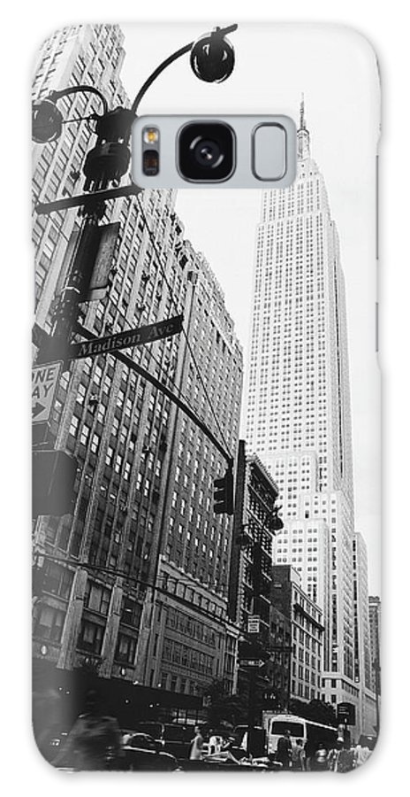 Outdoors Galaxy Case featuring the photograph View Of The Empire State Building, New by Martin Child