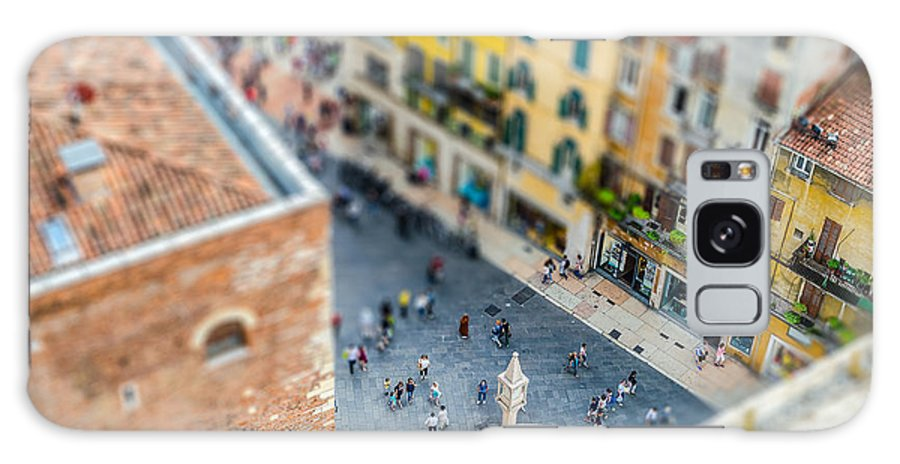 City Galaxy S8 Case featuring the photograph View Over Piazza Delle Erbe Markets by Marco Rubino