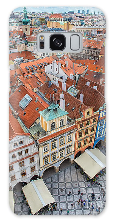 Crowd Galaxy S8 Case featuring the photograph View Over The Rooftops Of The Old Town by Badahos
