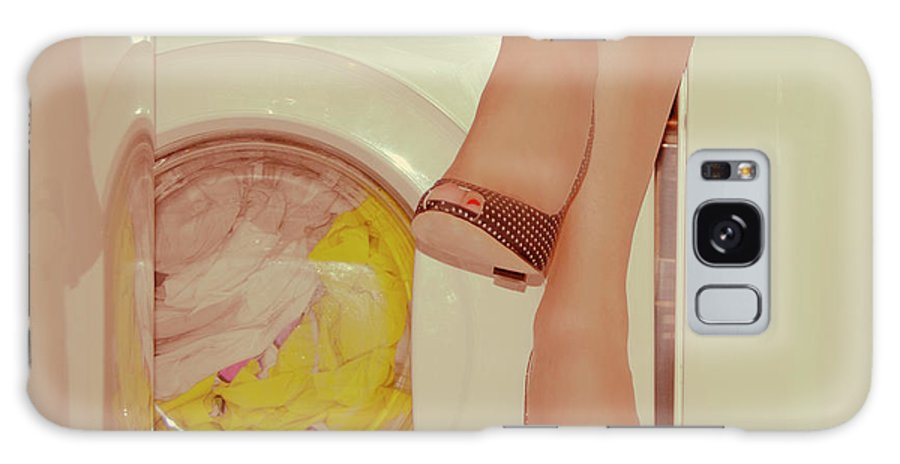 Laundromat Galaxy Case featuring the photograph Vintage Laundry by © Angie Ravelo Photography