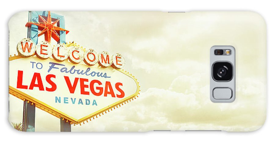 Panoramic Galaxy Case featuring the photograph Vintage Welcome To Fabulous Las Vegas by Powerofforever