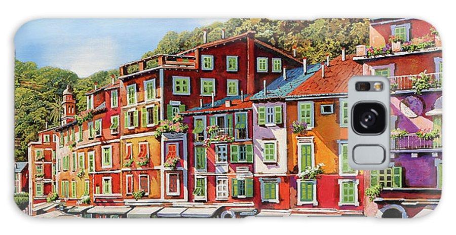 Portofino Galaxy Case featuring the painting Viola Portofino by Guido Borelli