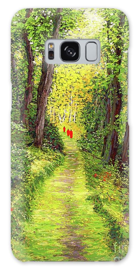 Meditation Galaxy S8 Case featuring the painting Walking Meditation by Jane Small