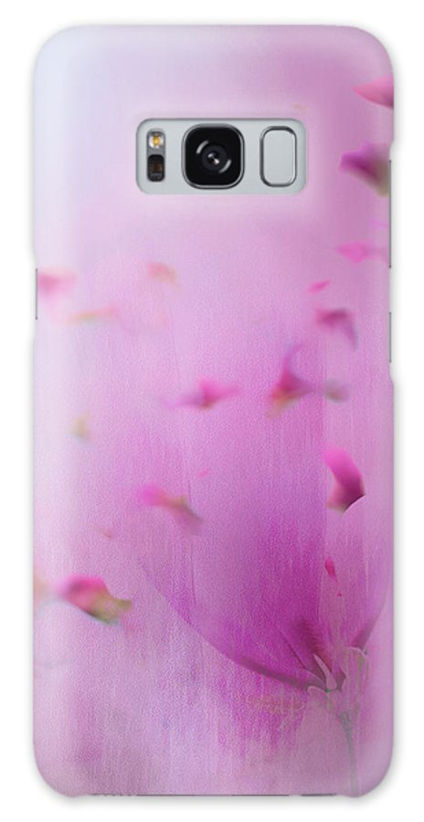 Hot Pink Galaxy S8 Case featuring the photograph Watercolor Magnolia by Emily Johnson