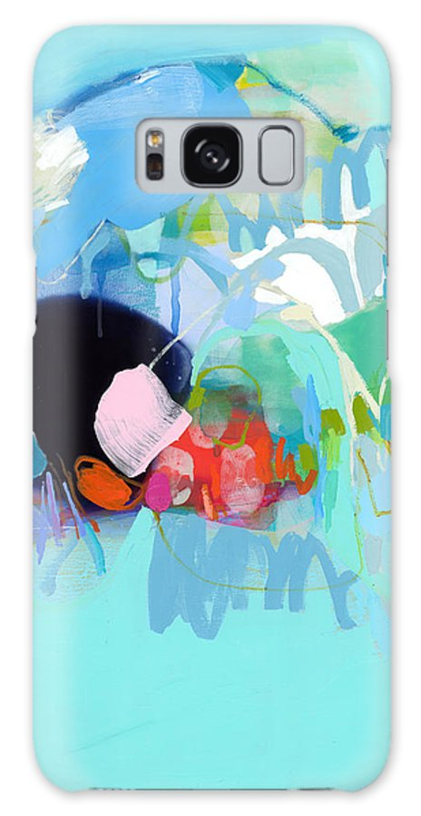 Abstract Galaxy S8 Case featuring the painting West Coast Wanderlust by Claire Desjardins