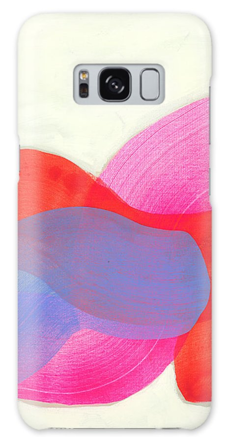 Abstract Galaxy S8 Case featuring the painting What To Say? by Claire Desjardins