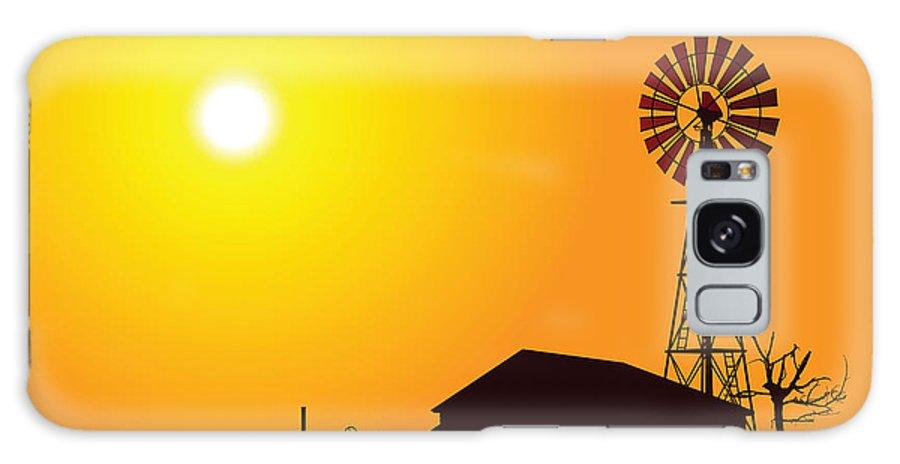 Usa Galaxy S8 Case featuring the digital art Wind Turbine by Alexander Smulskiy