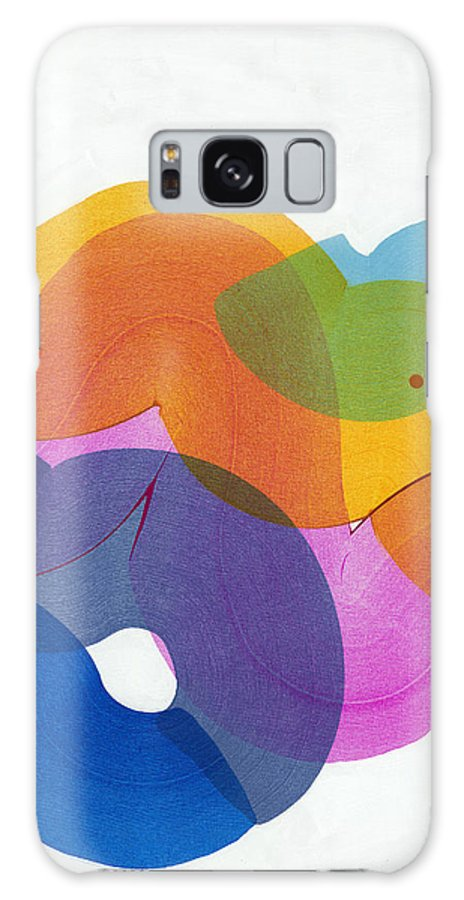 Abstract Galaxy S8 Case featuring the painting With Love by Claire Desjardins