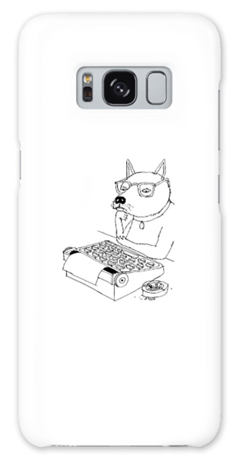 Captionless Galaxy Case featuring the drawing Woof by Edward Steed